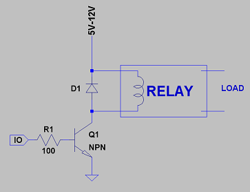 Relay Sch on Relay Circuit Schematic